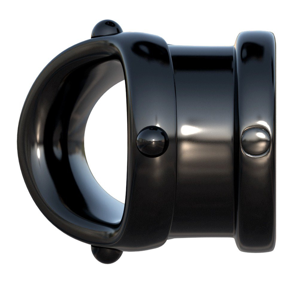 Fantasy Rock Hard - péniszgyűrű és herenyújtó-gyűrű (fekete) - szexaruhaz