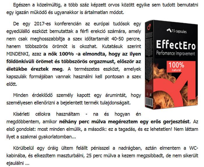 termékek a hatékonyság és az erekció növelésére